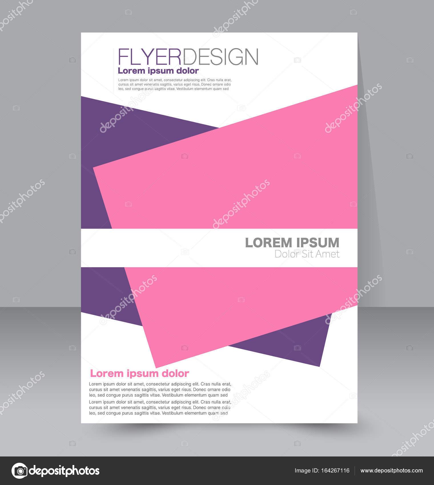 Fondo de diseño de Flyer. Plantilla folleto — Archivo Imágenes ...