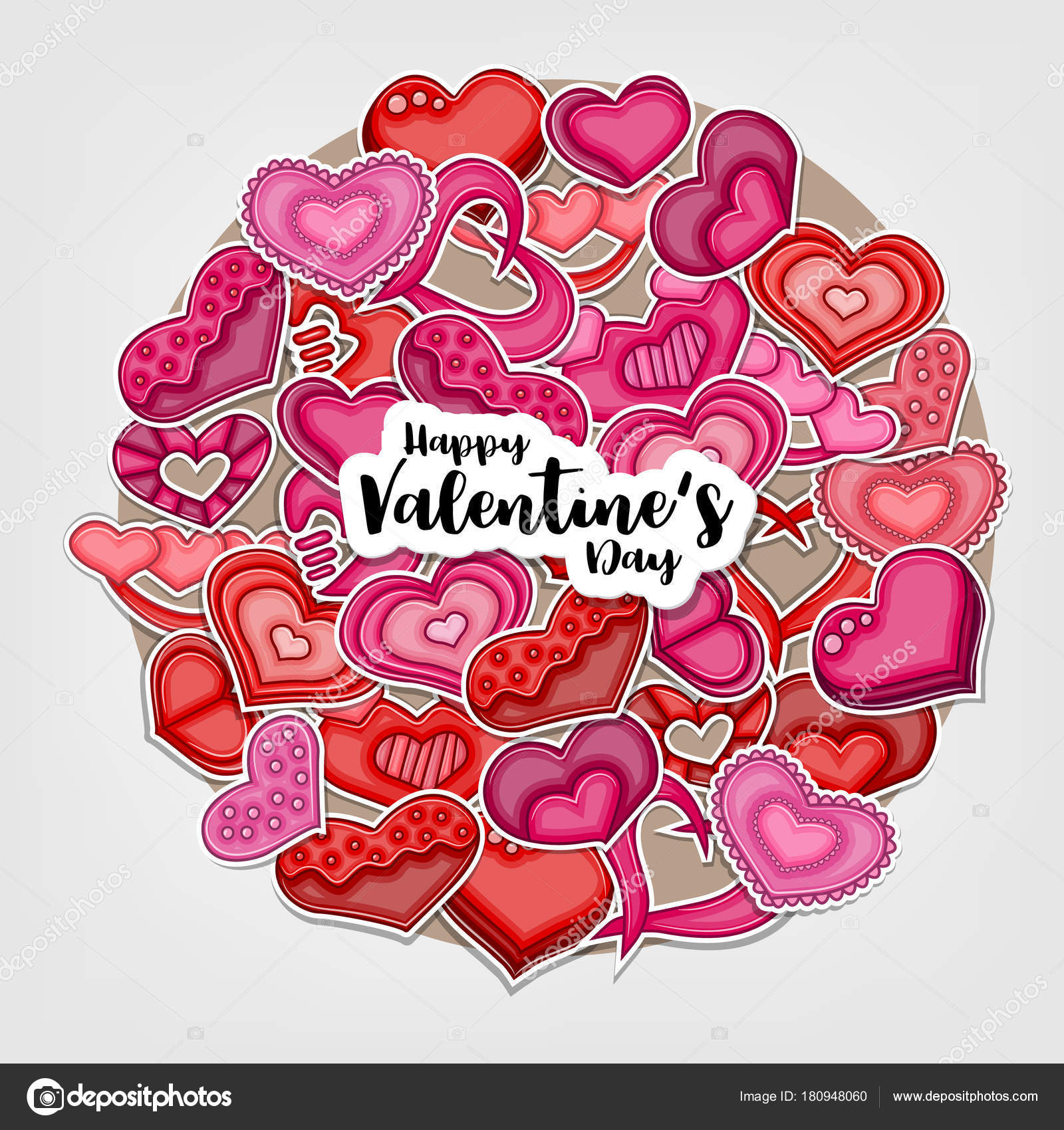 Happy Valentines Day Illustration Greeting Card Party Invitation Web ...