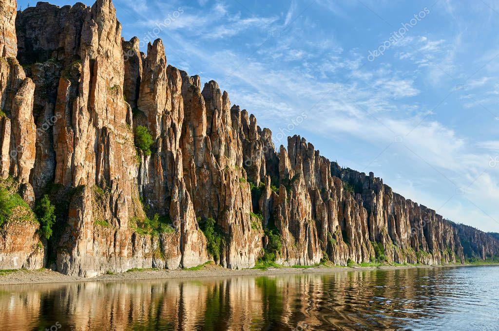 Lena Pillars, national park in Yakutia