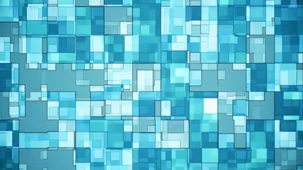 Squares Background Blue