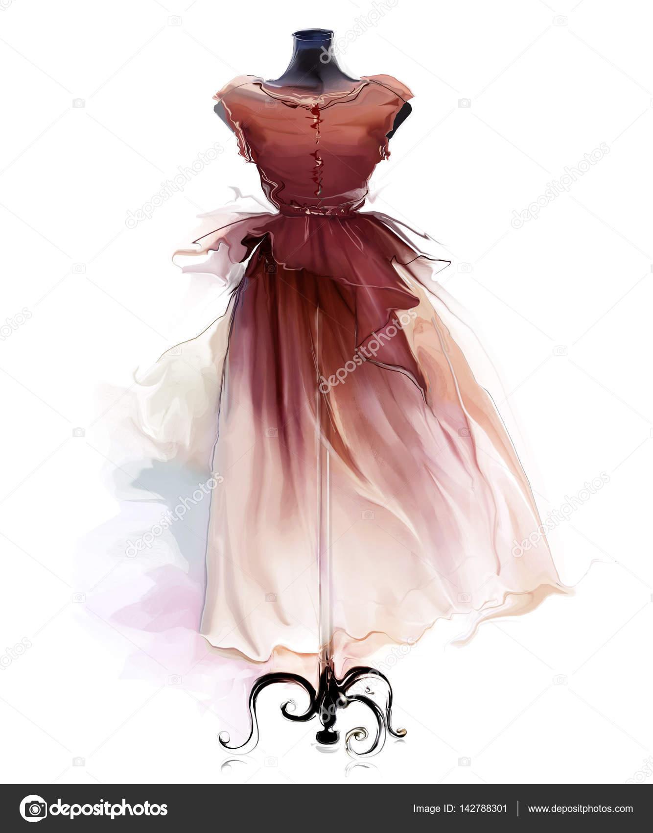 aa0bacec23dbd güzel bir Retro elbise çizimi — Stok Foto © Teniteni #142788301