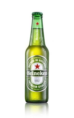Los Angeles CA - August 23: Bottle of Heineken beer isolated on white background.