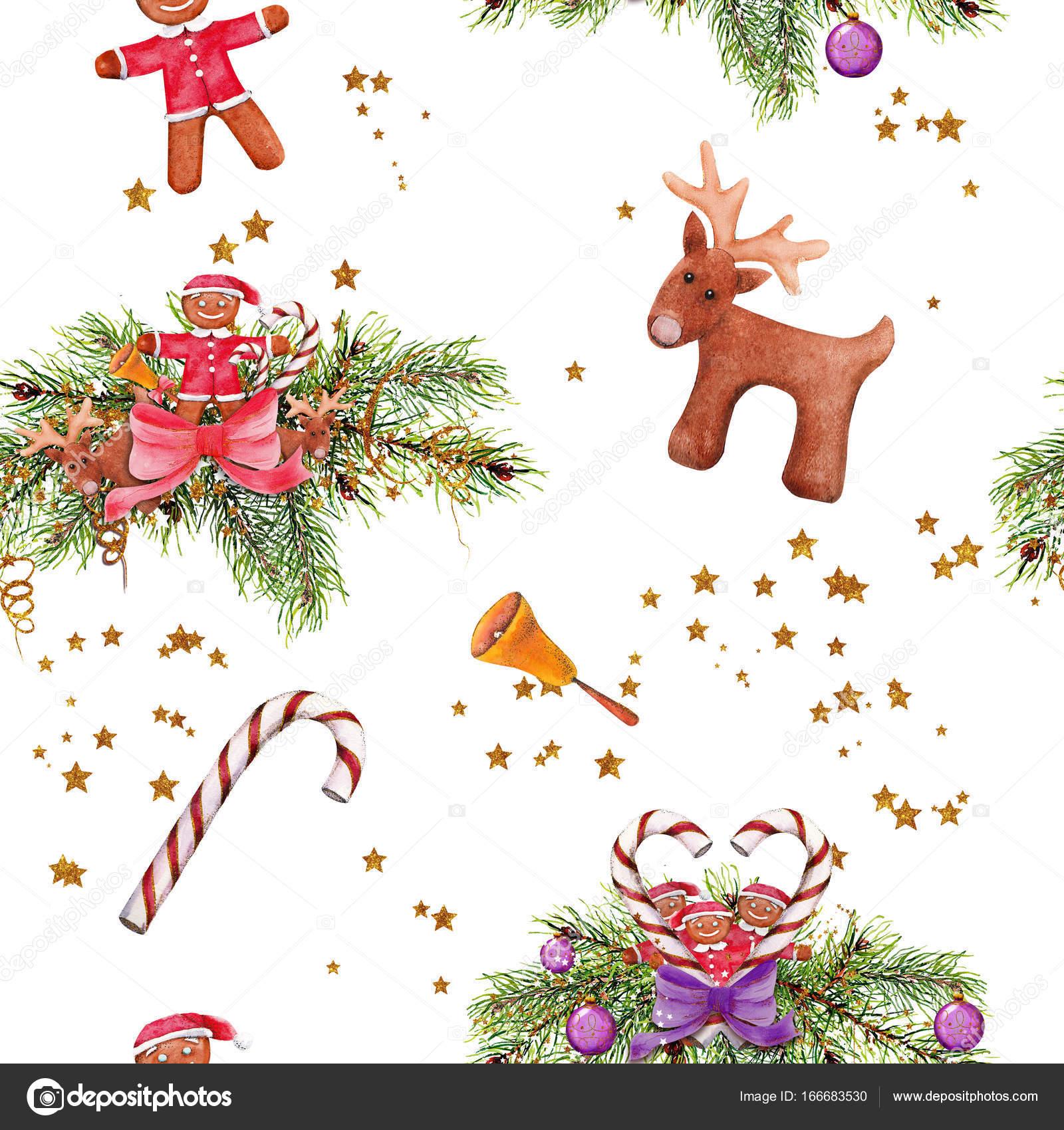 Weihnachten Clipart, Handarbeit von einem Aquarell — Stockfoto ...