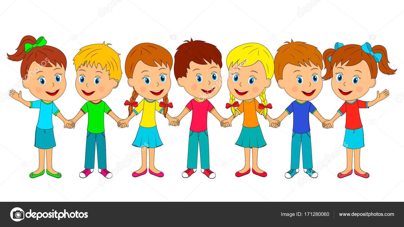 Imágenes Niños Profesionistas Niños Y Niñas Están Cogidos De La