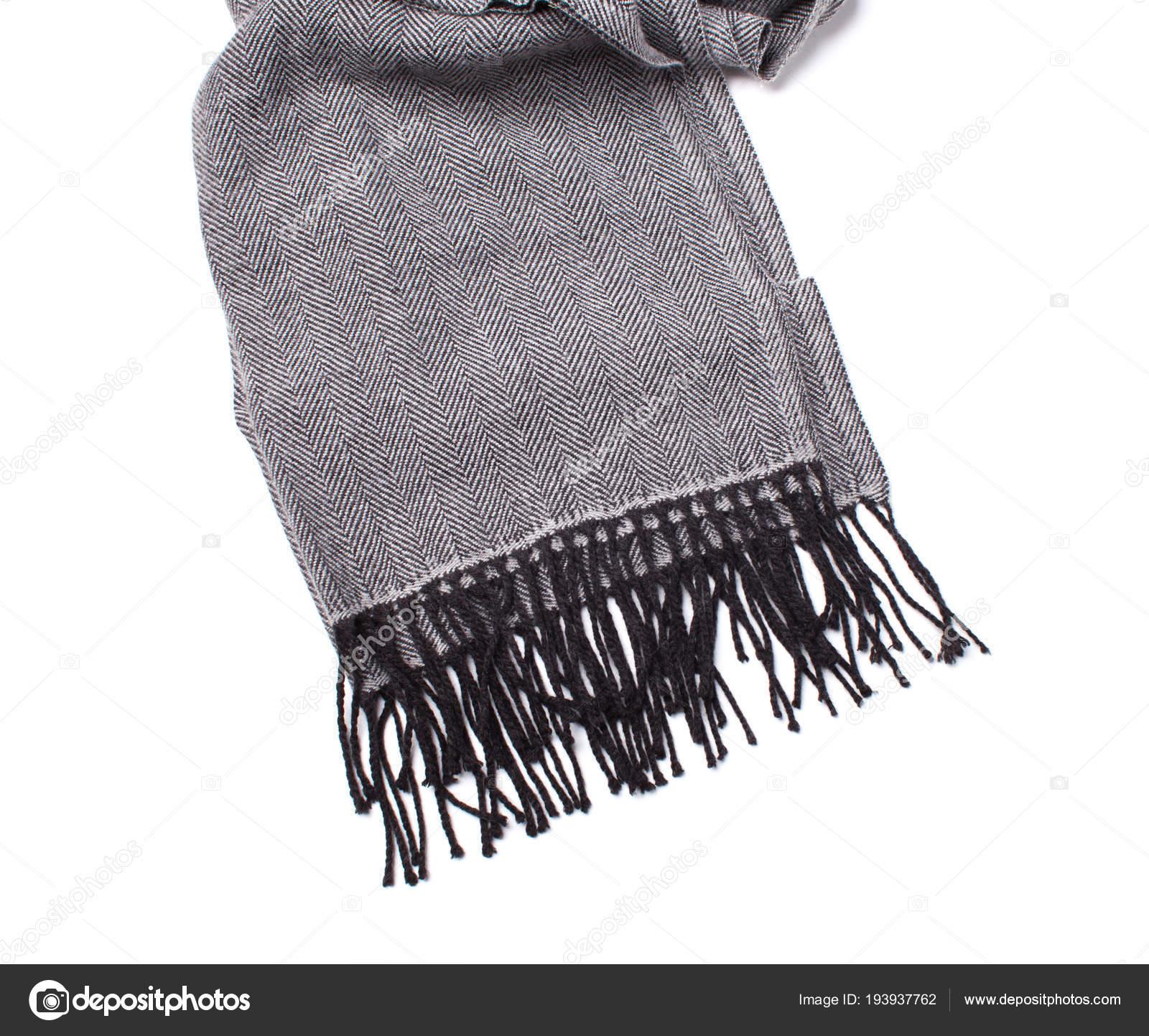 983fbdcd292 klassieke grijze sjaal met zwarte rand — Stockfoto © schum45 #193937762
