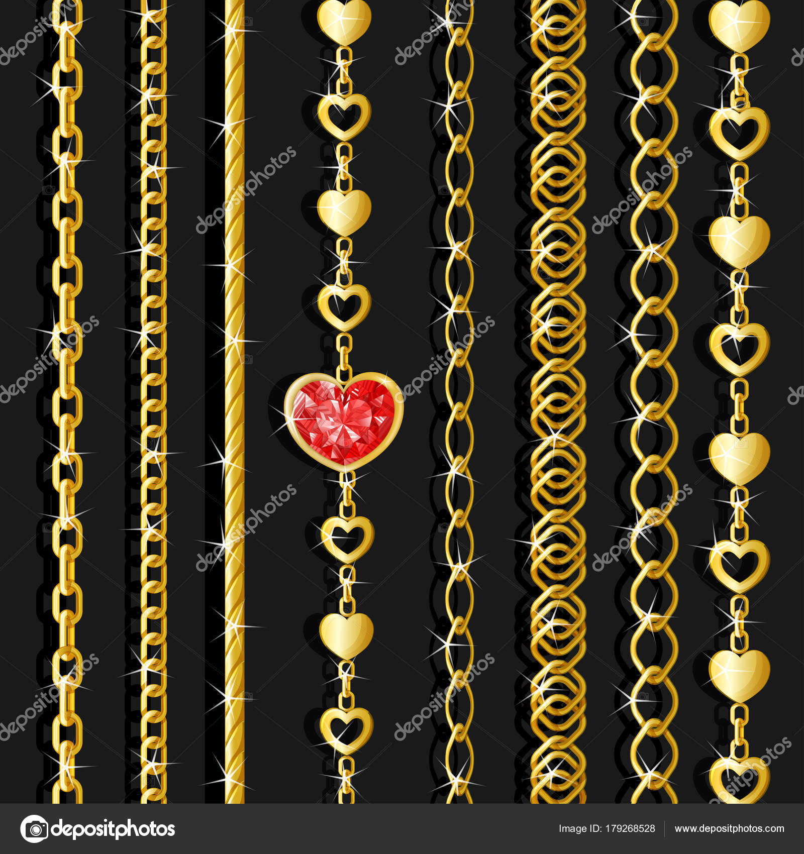 central by photo golden kept element chains image stock a bigstock toghether chain