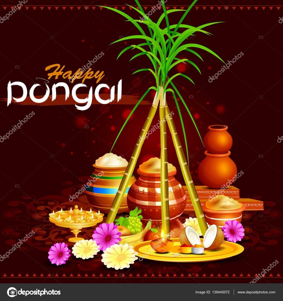 Happy pongal festival of tamil nadu india background stock vector happy pongal festival of tamil nadu india background stock vector m4hsunfo