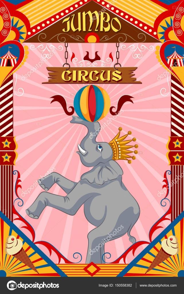 Vintage retro Circus Party banners diseño de carteles — Archivo ...