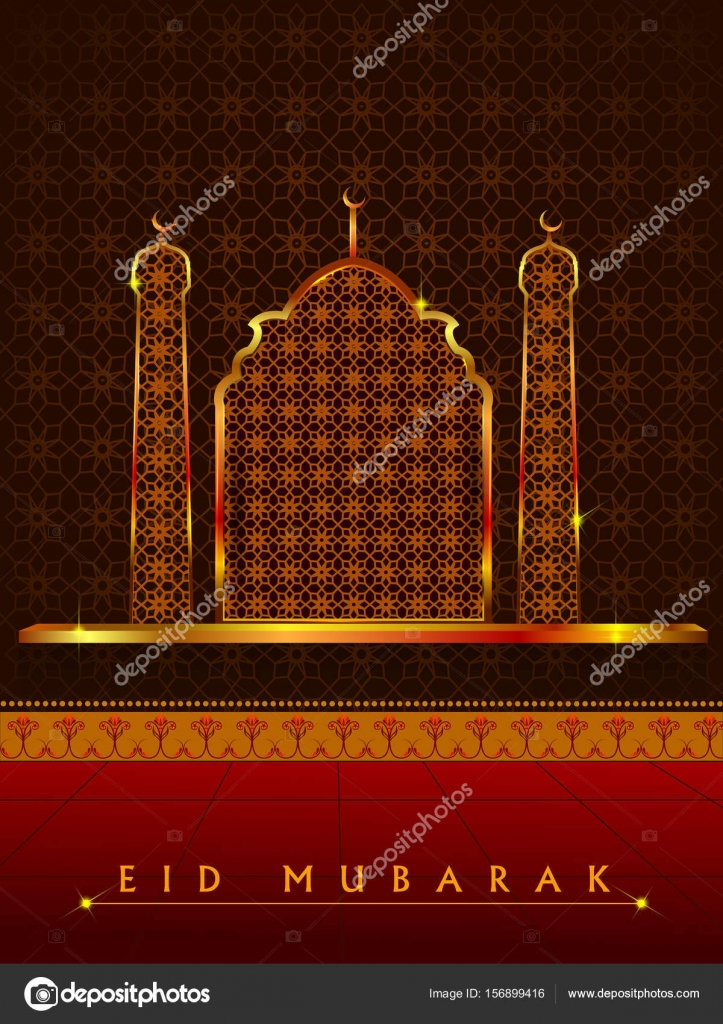 Islamic design mosque door and window for Eid Mubarak Happy Eid celebration background u2014 Stock Vector & Islamic design mosque door and window for Eid Mubarak Happy Eid ...