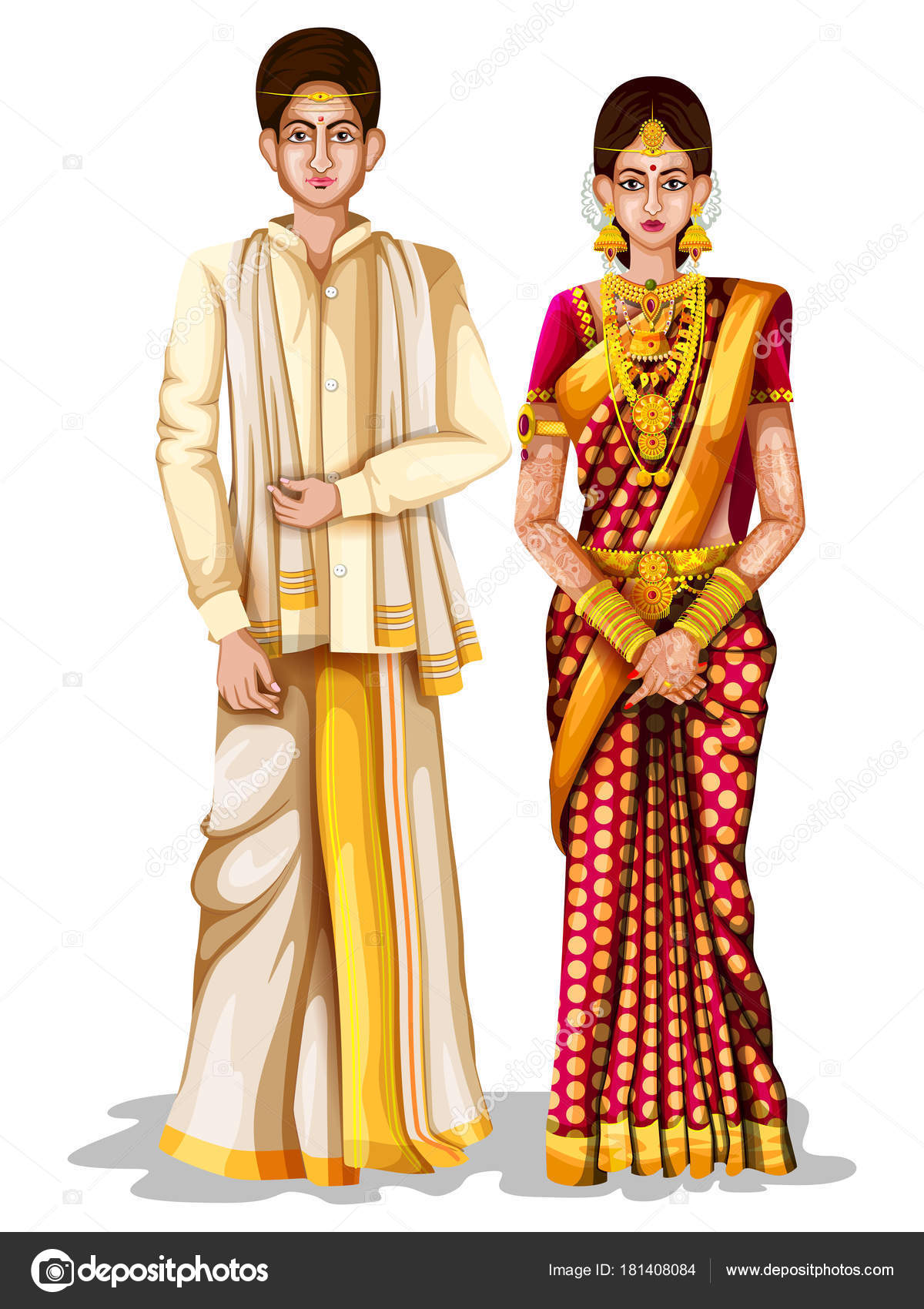 Andhrait wedding couple in traditional costume of andhra for Traditional photos