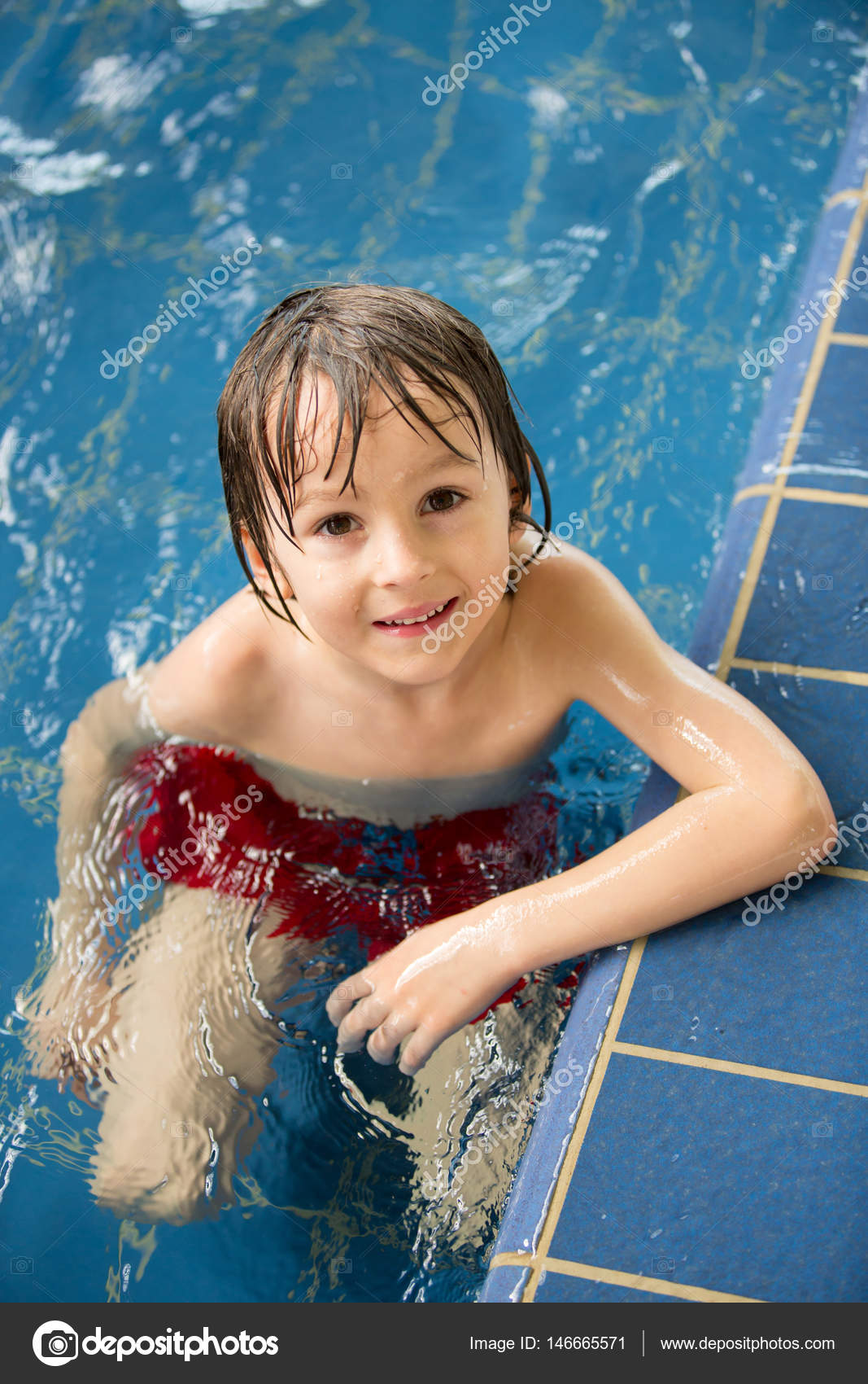 Sweet girls swim pool all