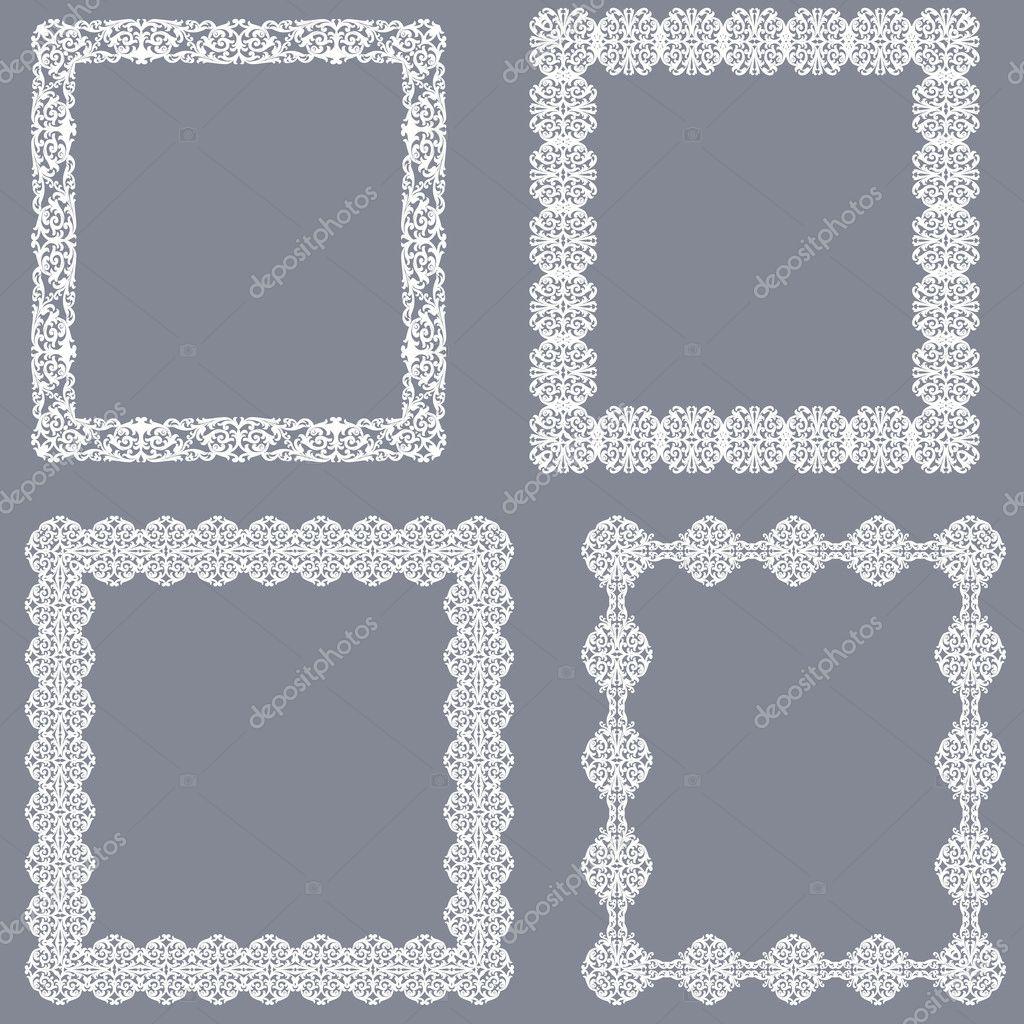 conjunto de Marcos blancos — Vector de stock © tatiana54 #127952708