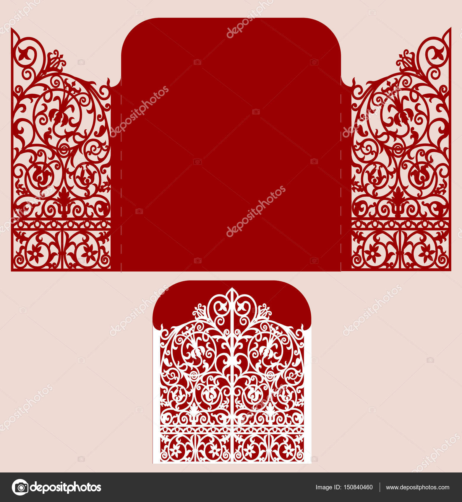 laser cut wedding invitation — Stock Vector © tatiana54 #150840460
