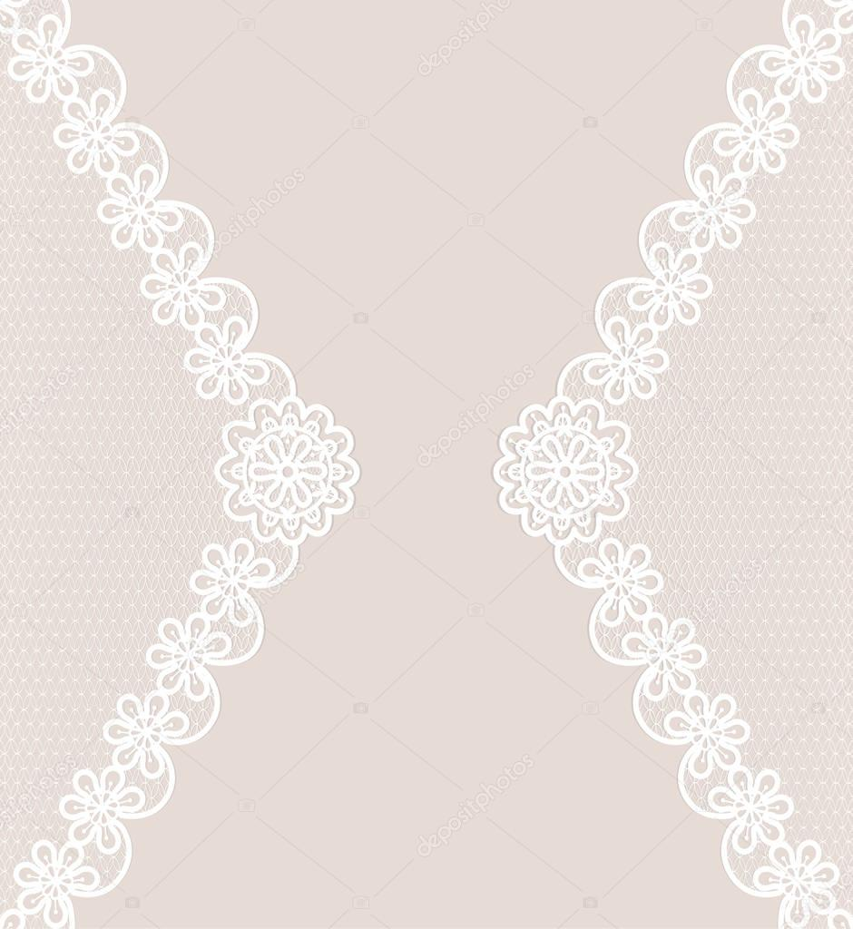 card with lace borders — stock vector © tatiana54 153435582