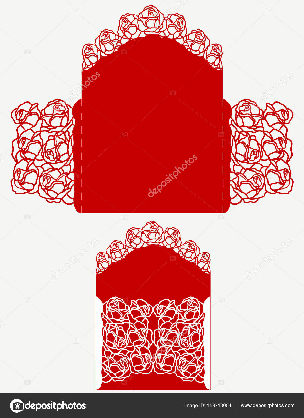 laser cut wedding invitation — Stock Vector © tatiana54 #159710004