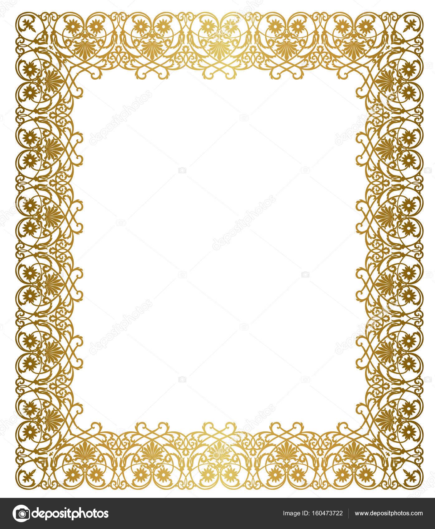 dcd0c7abc09 Elegant gold frame — Stock Vector © tatiana54  160473722