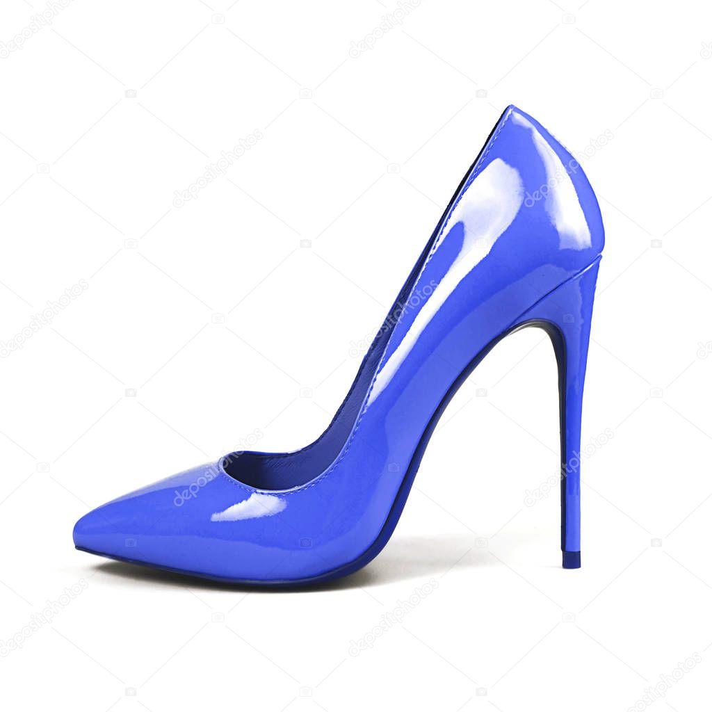 0dfda9fdf mujer zapatos azules sobre blanco — Fotos de Stock © Martyna1802 ...