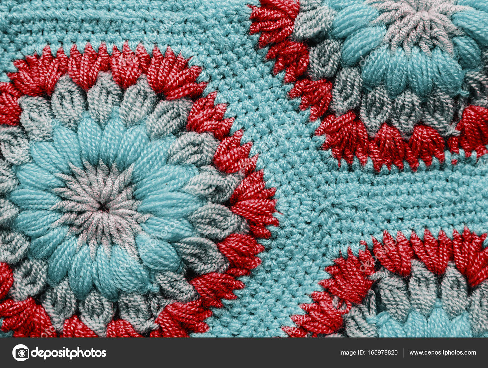 Gestrickte Textil Teppich Muster Makro — Stockfoto © Martyna1802 ...