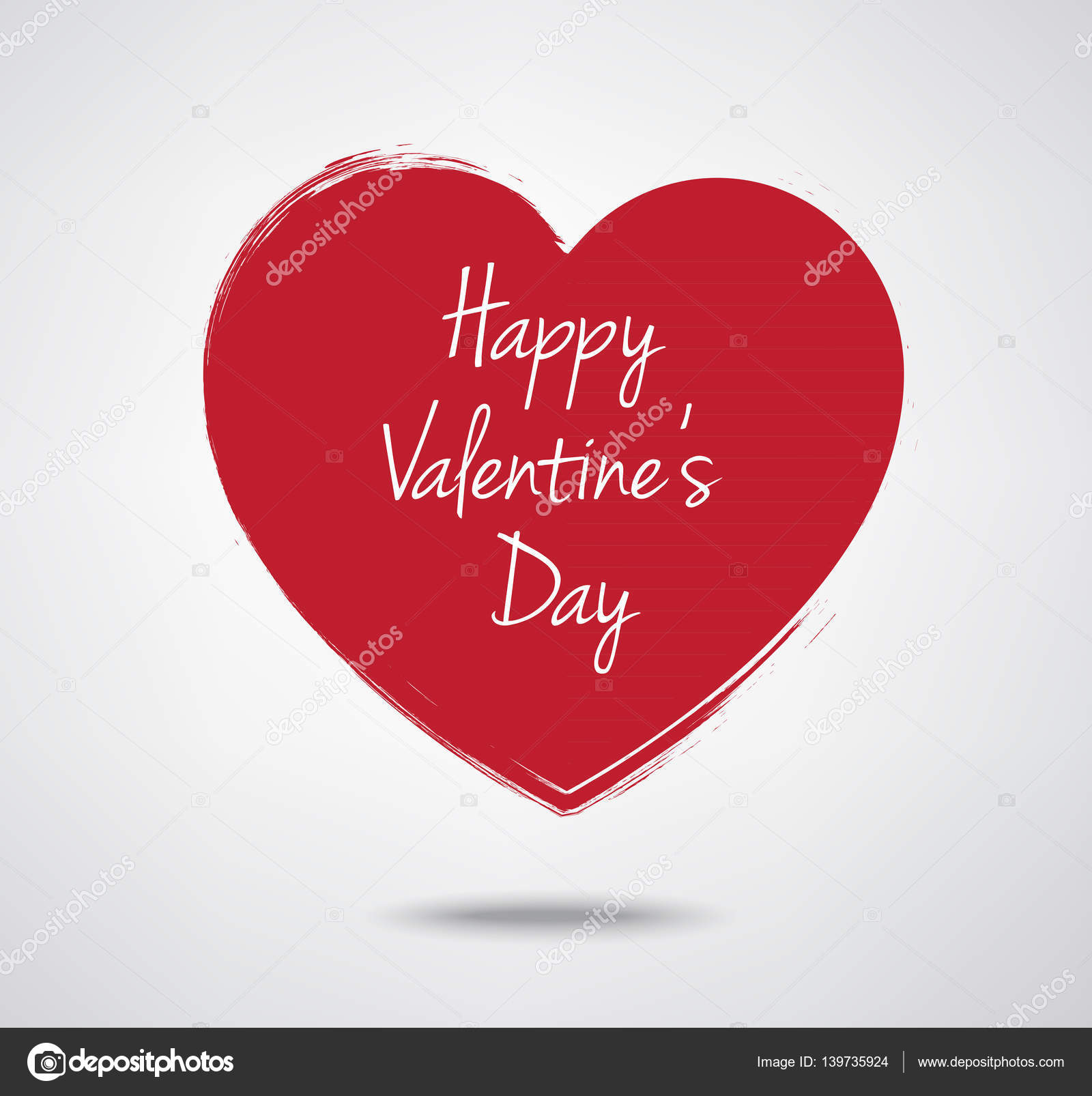 Etiqueta de corazón de San Valentín tipografía — Archivo Imágenes ...