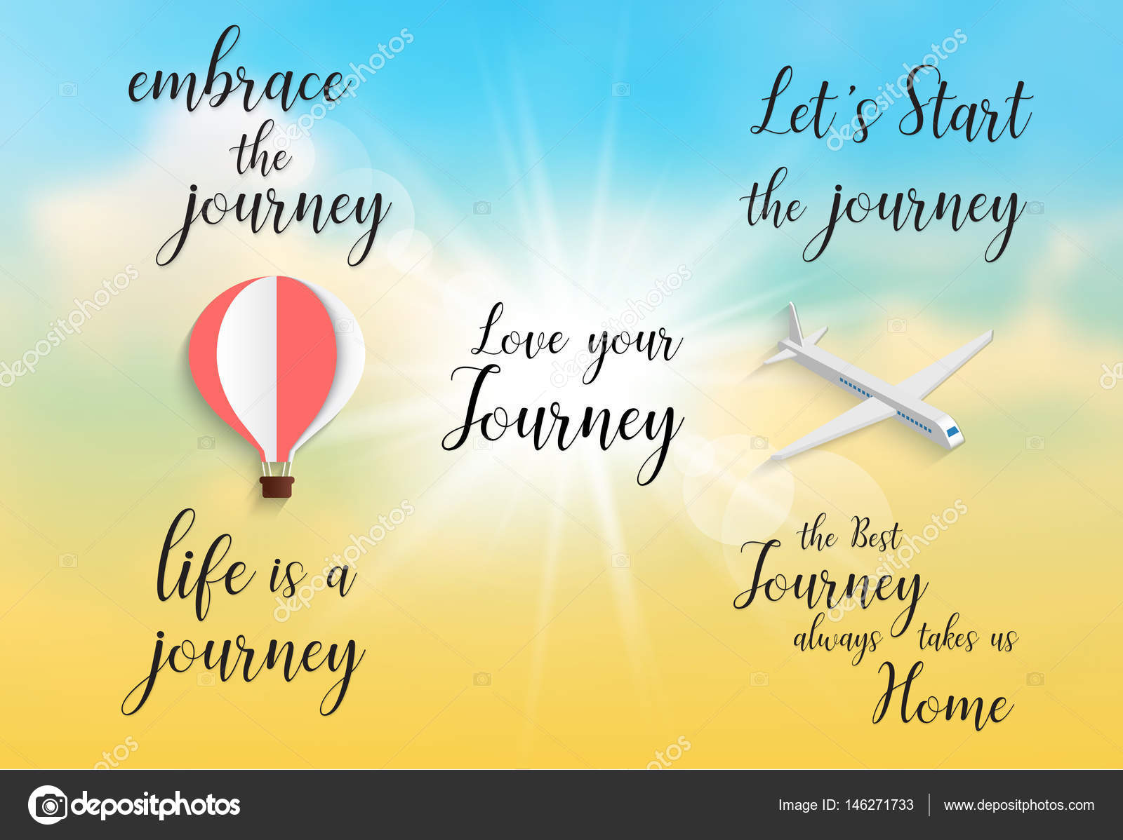 Inspirational Quote Embrace The Journeylife Is A Journey Stock Classy Inspirational Quotes About Lifes Journey