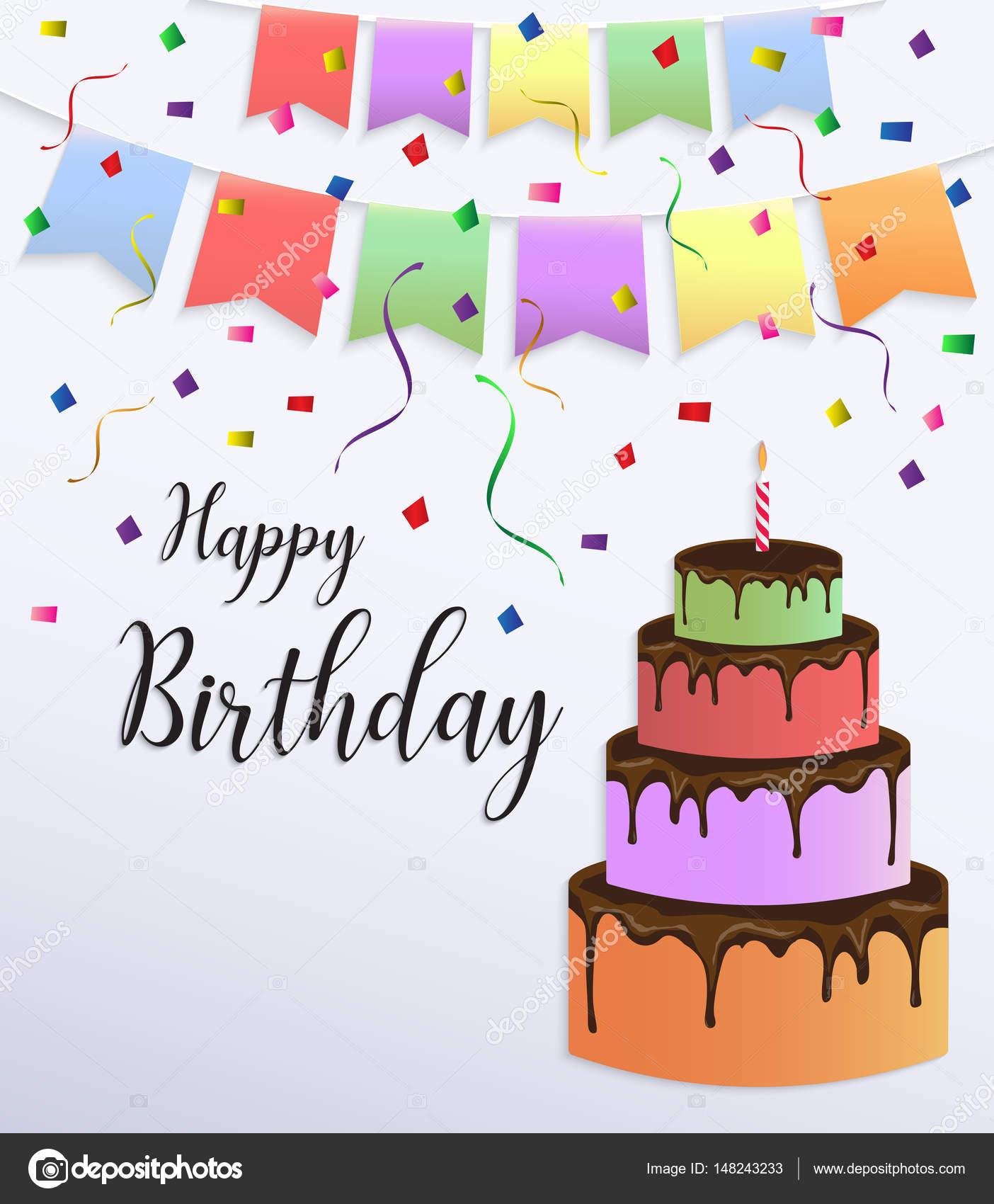 Tarjeta de feliz cumpleaños diseño con colores pastel grande ...