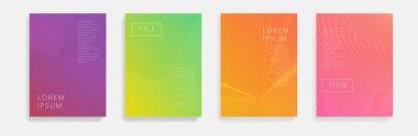 Minimal Vector covers design. Cool halftone gradients.