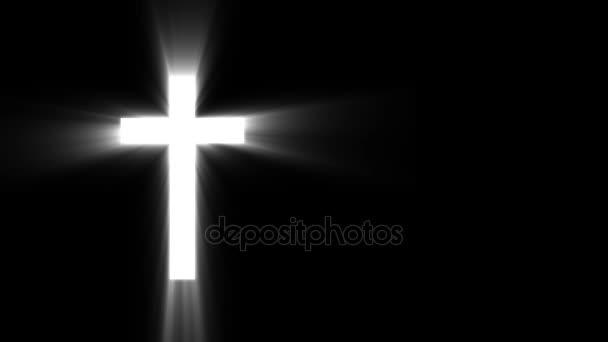 Süt a nap sugarai a sötét keresztény kereszt