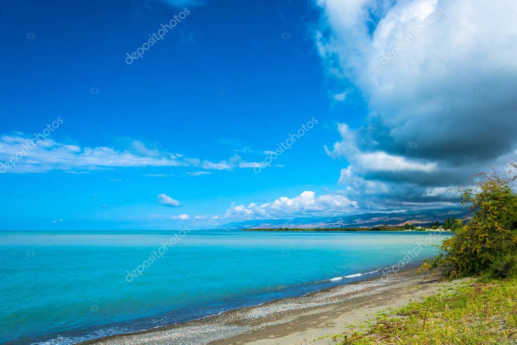 On the shore of lake Issyk-Kul, Kyrgyzstan.