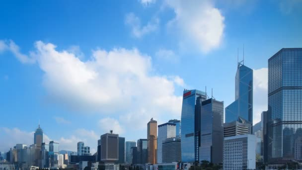 Time Lapse Of Office Building And Business Tower, Skyscraper With Background  Space For Text And Title Design.u2013 Stock Footage