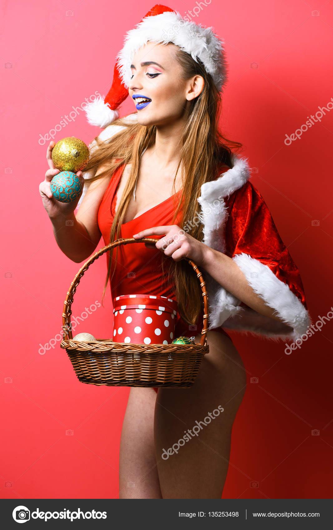 Chicas Sexis Vestidas De Navidad Muy Sonriente Chica Sexy