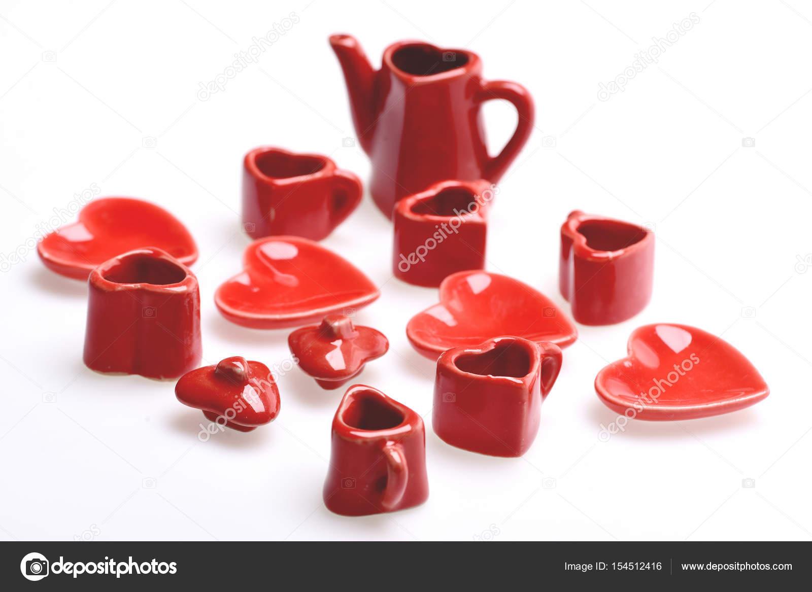 Zabawka Kuchnia Historie Przedstawiona Przez Male Czerwone Naczynia
