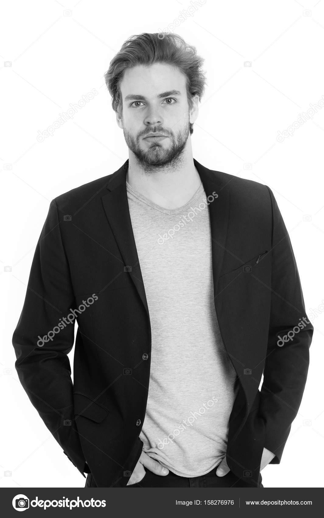 giovane giacca che indossa uomo camicia d'affari uomo o grigia e Ez6nnqa1