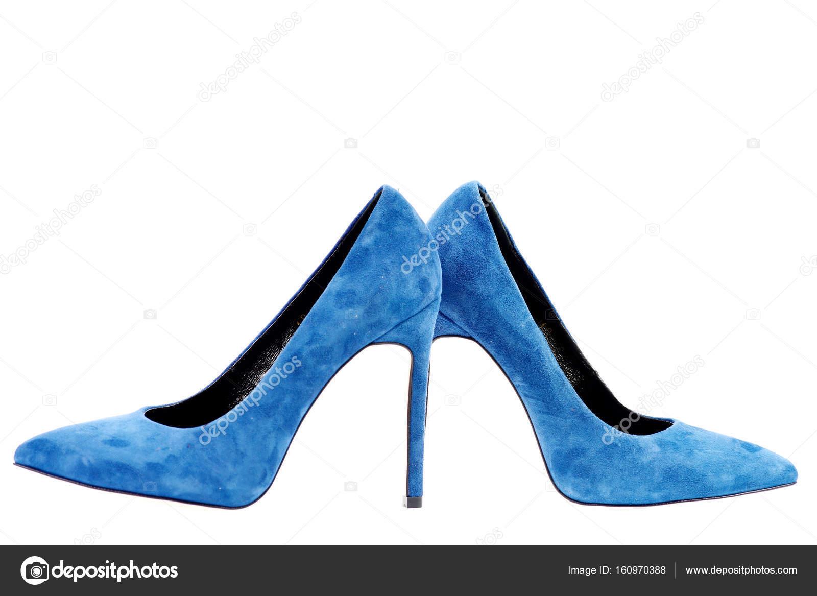 Пара сині замшеві туфлі на підборах. Формальні шкіряне жіноче 09e2e2b6d35c7
