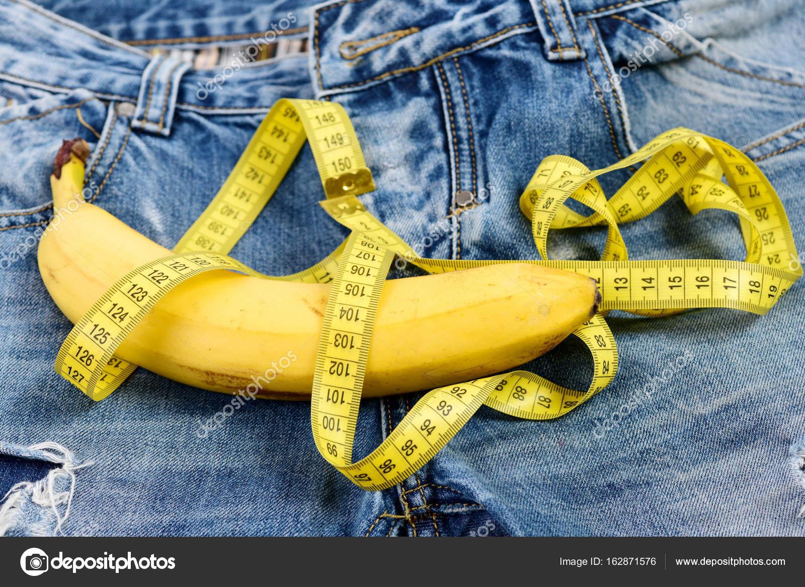 Herren Jeans Hose Schrittgurt mit Banane, die männliche Genitalien ...