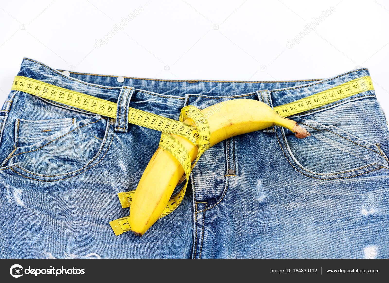 Hose mit Banane imitieren männliche Genitalien männliche Sexualität ...
