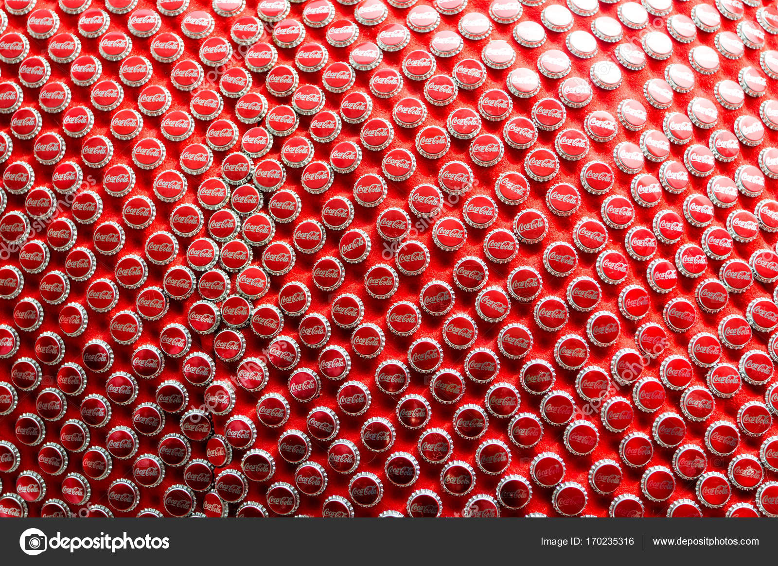 Sfondo Tappo Rosso Coca Cola Foto Editoriale Stock Stetsik