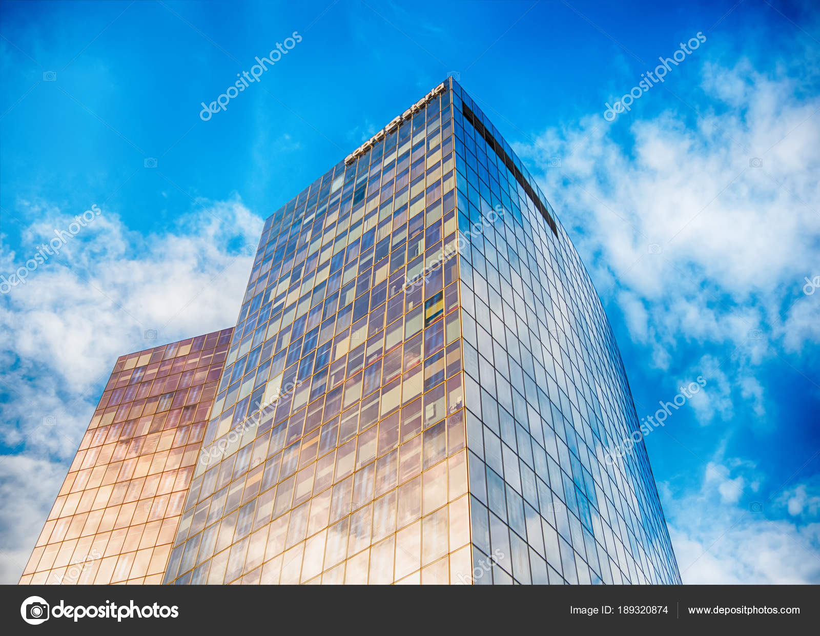 glass facade design office building. Office Buildings With Glass Facade In La Defense, Paris, France \u2014 Stock Photo Design Building P