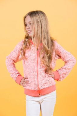 Child smiling with long blond hair, hairstyle, beauty