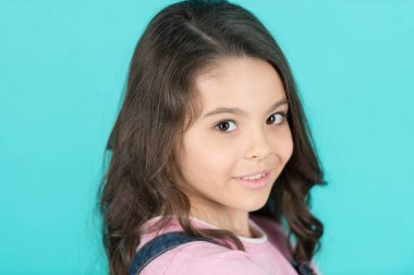 Little girl smile with young face skin, skincare