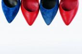 Accessoires für Frauen: Schuhzehen isoliert auf weißem Hintergrund