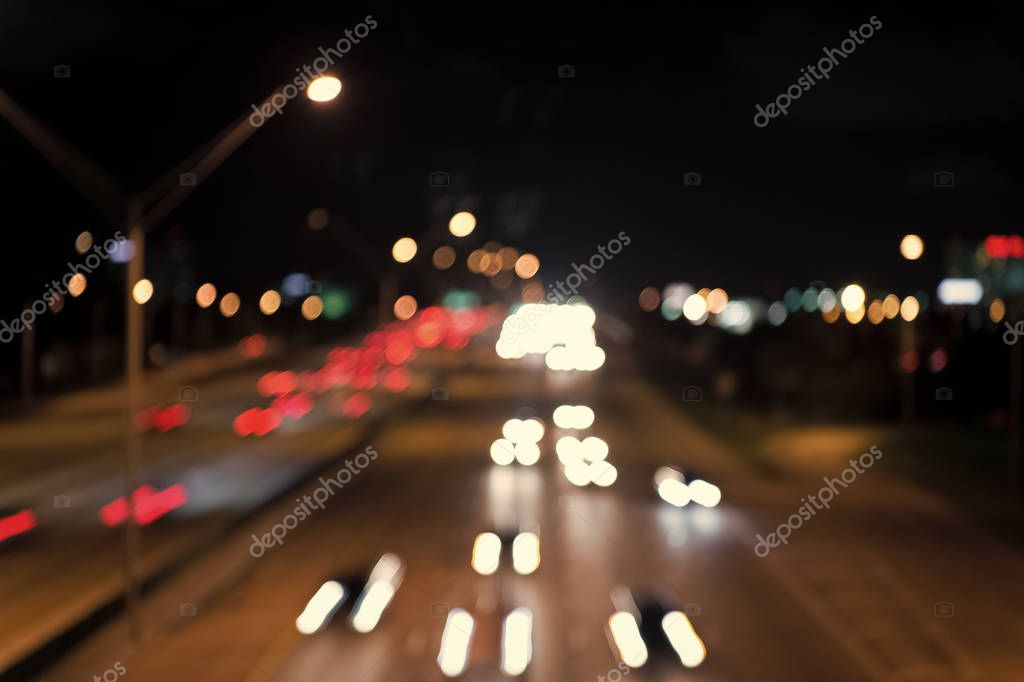 Фотообои defocused speed background. blur night life. illumination. Abstract urban night light defocused background. blurred night city lights. the speed and dynamics. Blurry Illumination and night lights