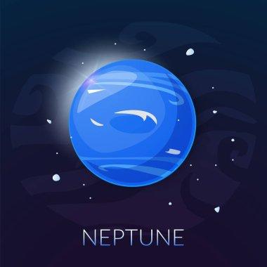 The planet Neptune icon, vector illustration