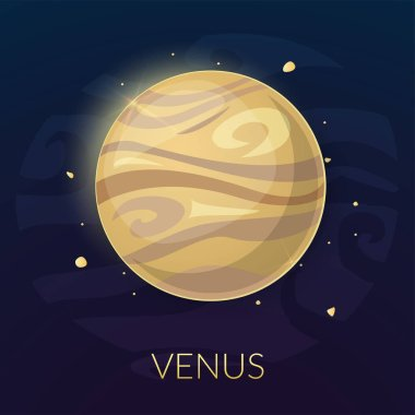 Planet Venus in space
