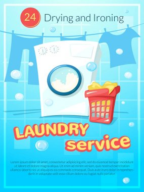 Laundry service poster