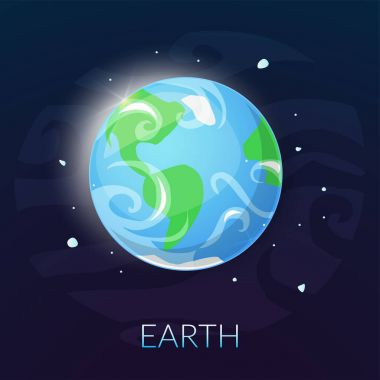 Earth planet banner