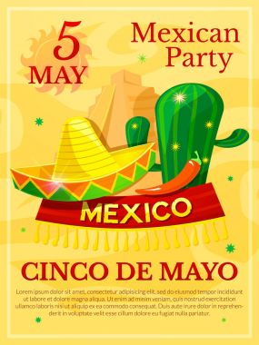 Mexican party poster