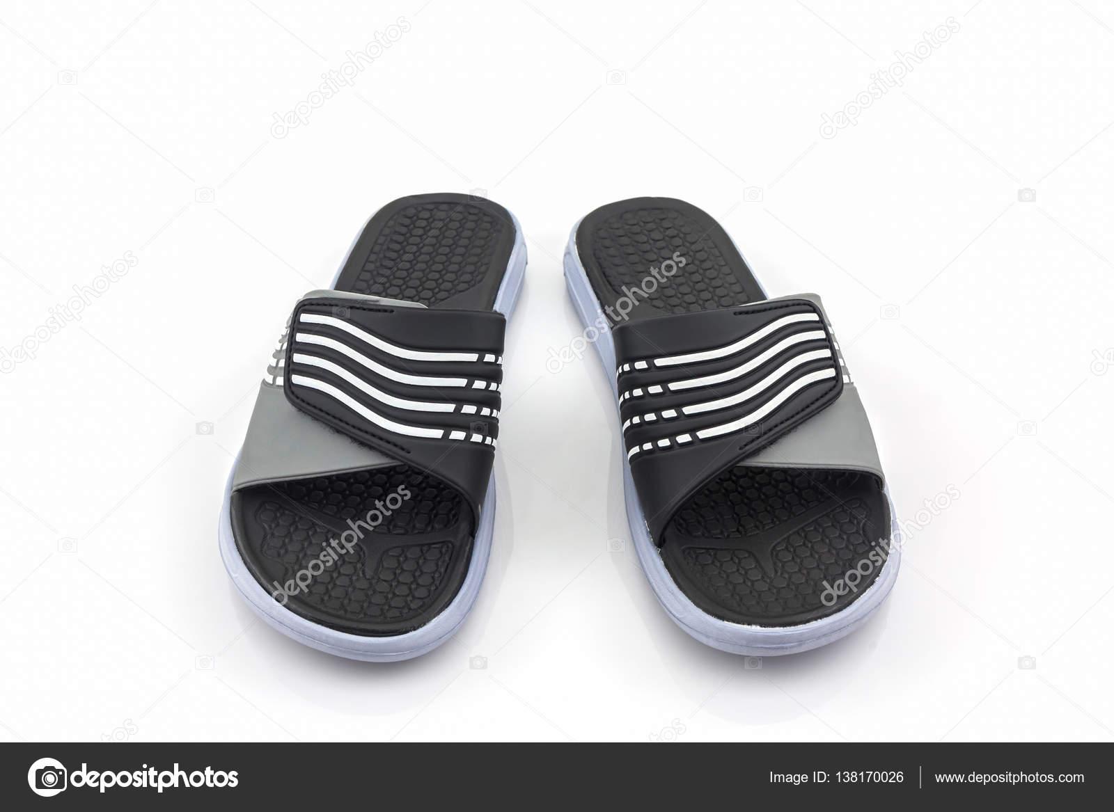 sandalen schuhe schwarze farbe flip flops stockfoto amnachphoto 138170026. Black Bedroom Furniture Sets. Home Design Ideas