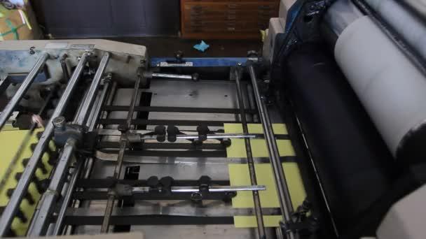 Výrobní proces, stroj knihtisku v akci