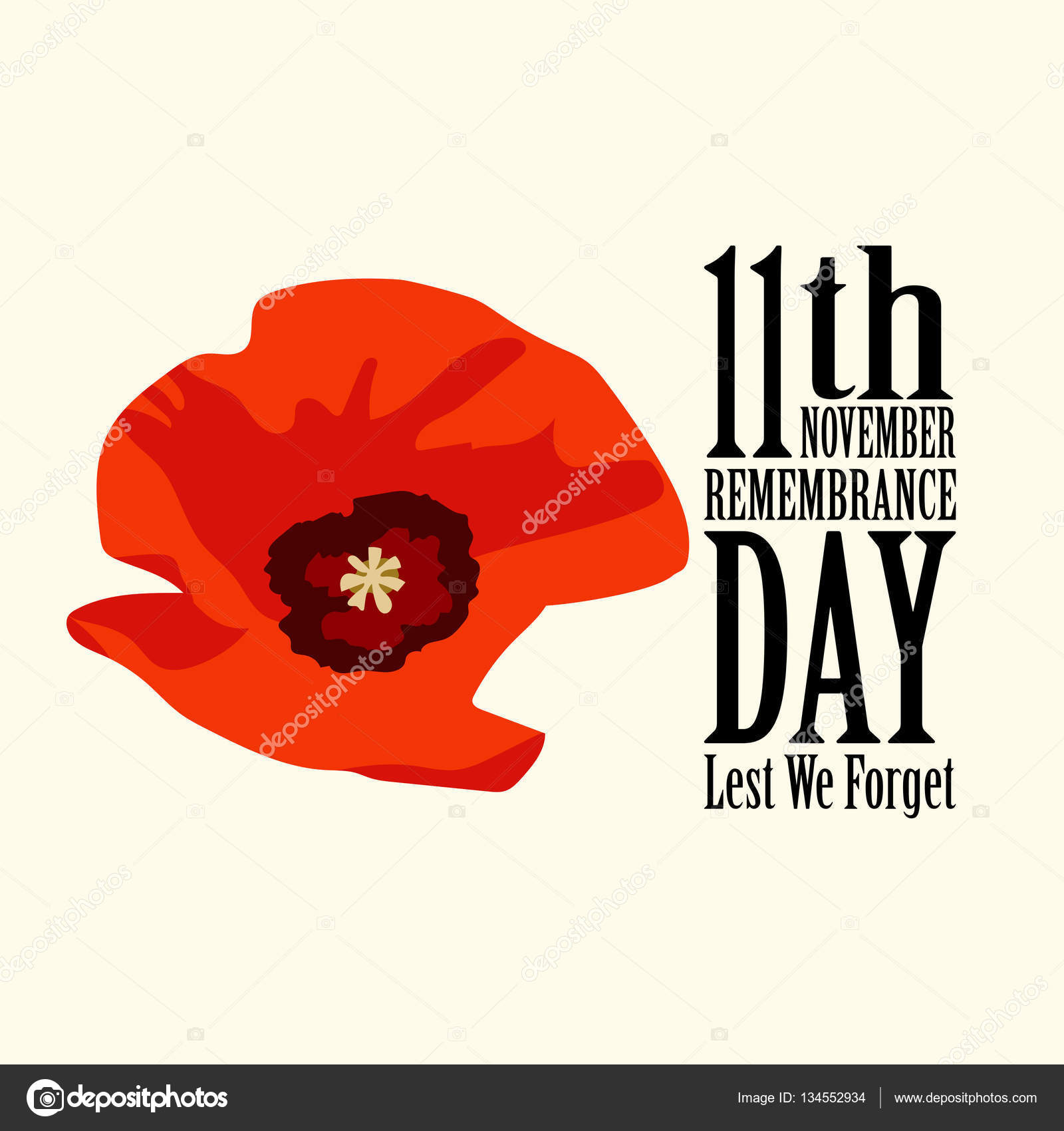 the poppy flower remembrance day u2014 stock vector roilira 134552934