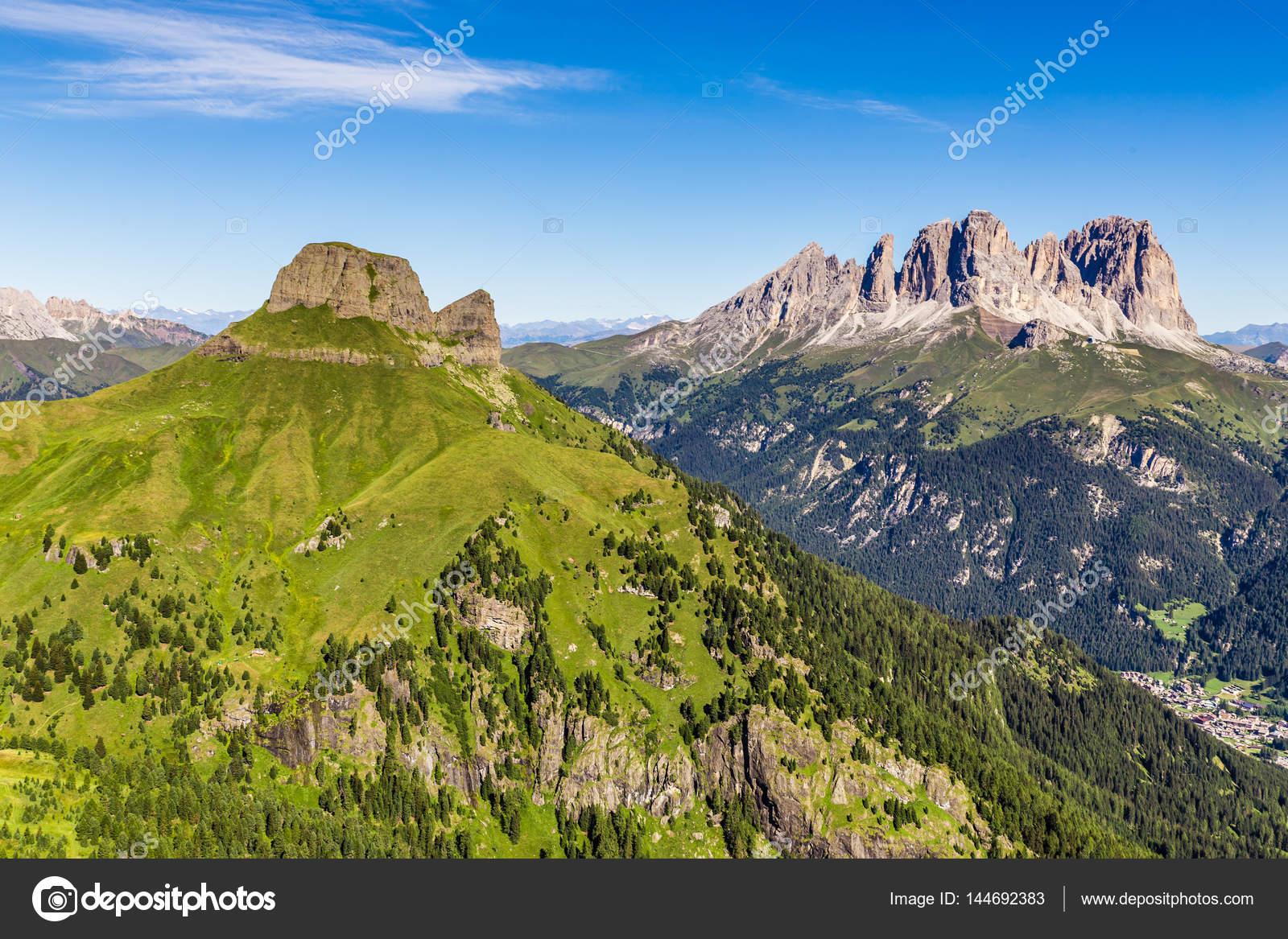 Design El Dolomiten | Langkofel Langkofel Group Dolomiten Italien Stockfoto